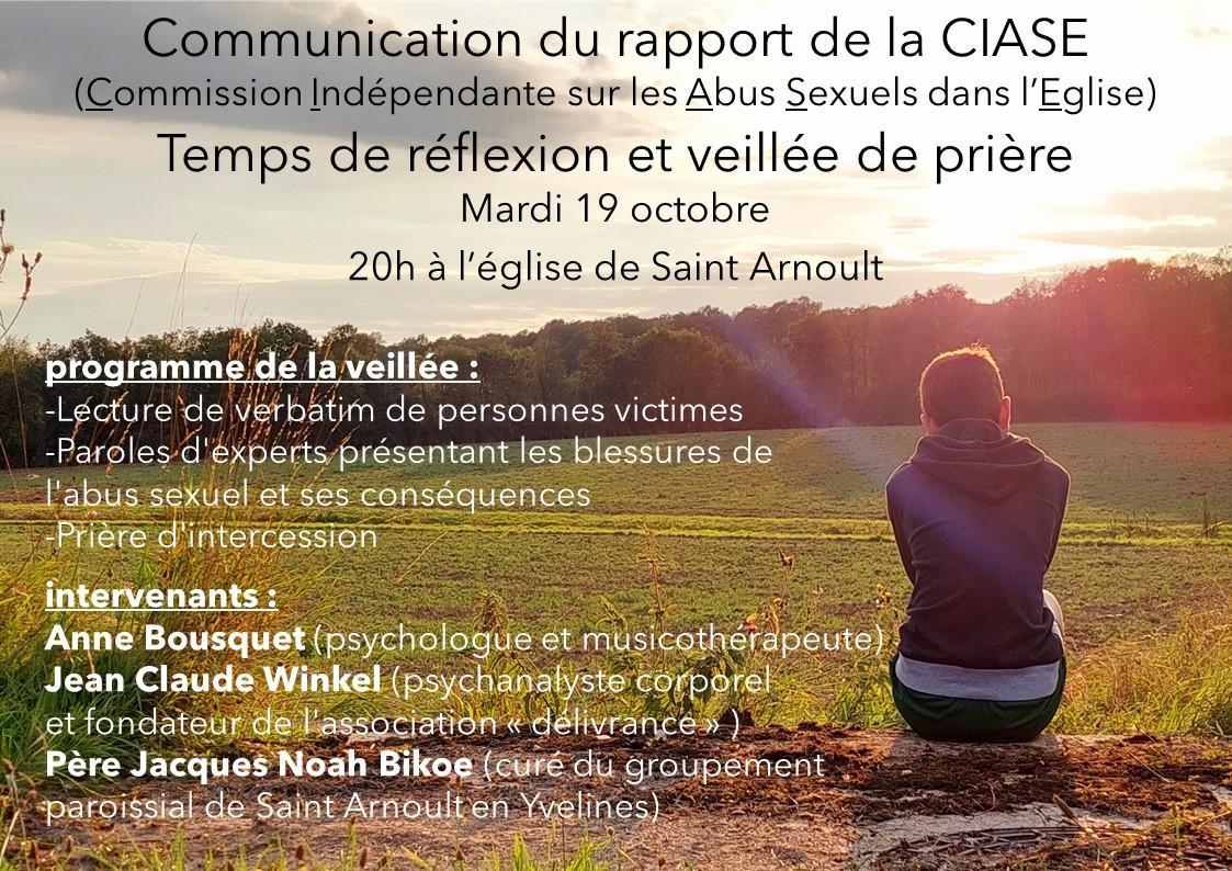 Affiche sur la communication du rapport de la ciase le 19 octobre